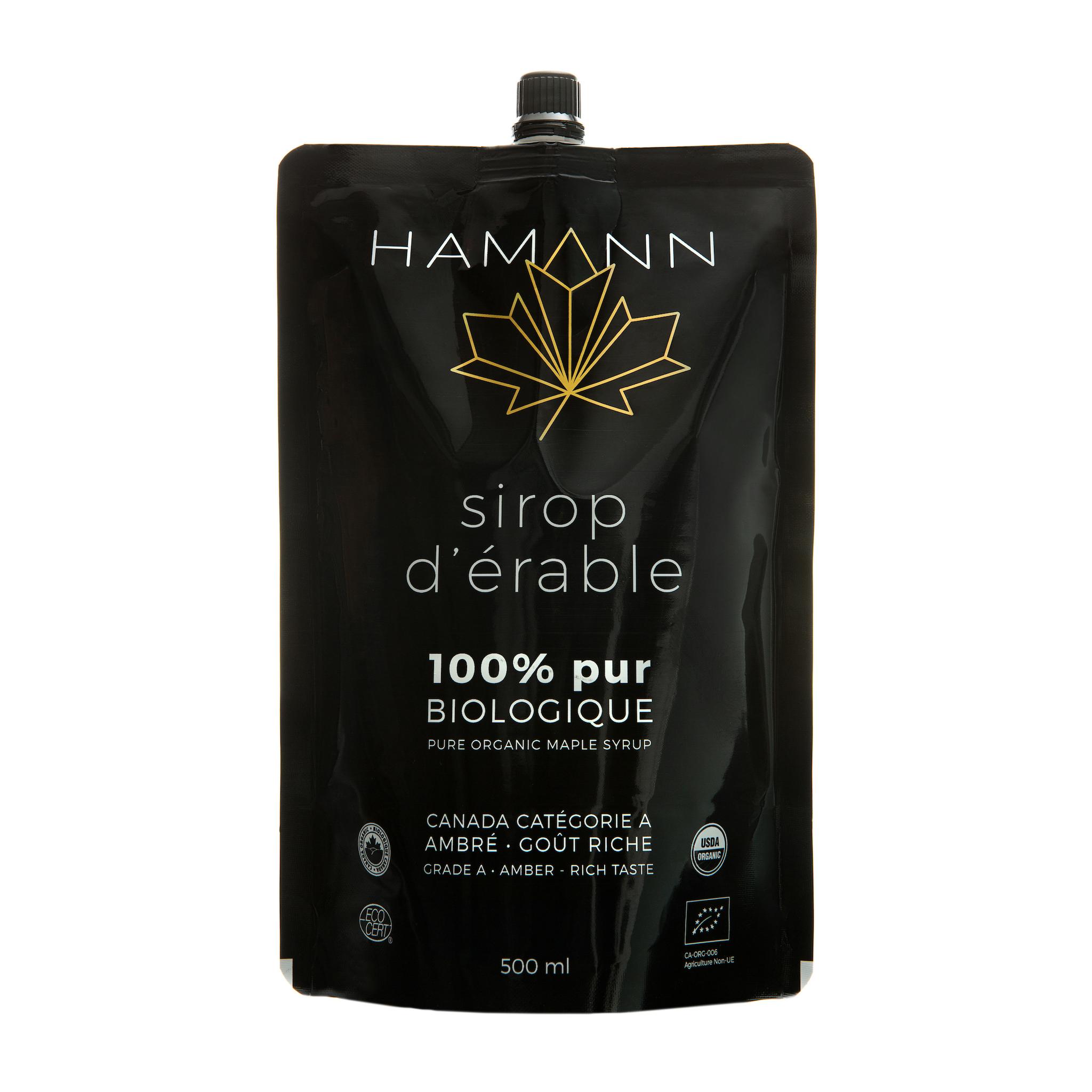 Sirop d'érable biologique, 100% pur - Hamann